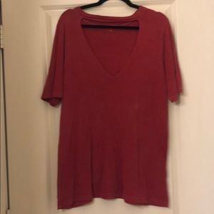 Truly madly deeply red tee